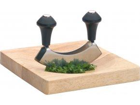 Sekáček na bylinky s dřevěným prkénkem