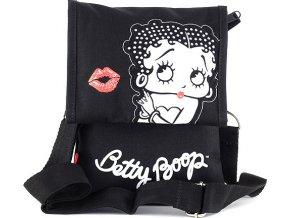 Kabelka přes rameno Betty Boop černo/bílá, s motivem Betty Boop