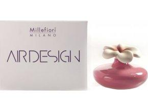 Keramický difuzér Millefiori Milano Air Design, květina malá, fialový