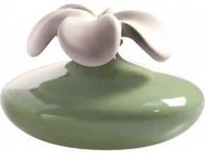 Keramický difuzér Millefiori Milano Air Design, květina velká, zelený