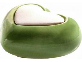 Keramický difuzér Millefiori Milano Lovely, srdce, zelený