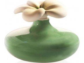 Keramický difuzér Millefiori Milano Lovely, květina malá, zelený