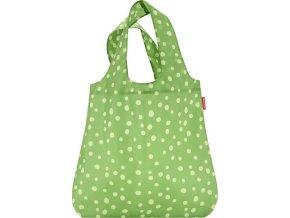 Nákupní taška Reisenthel Zelená s puntíky | mini maxi shopper