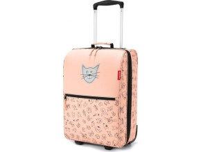 Dětský kufr Reisenthel Kočička a pejsek, růžový | trolley XS kids