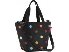 Nákupní taška Reisenthel Černá s barevnými puntíky | shopper XS dots