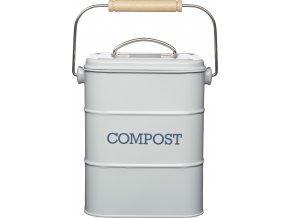 Plechový kompostér Living Nostalgia šedý