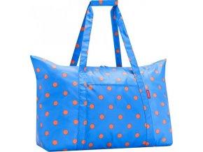 Taška cestovní Reisenthel Azurová s puntíky | mini maxi travelbag