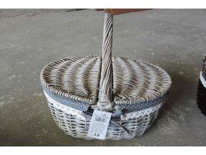 Košík, proutěná dekorace s látkou
