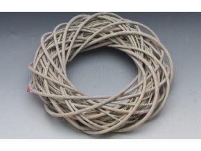 Ratanový věnec šedý 30 cm