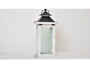 Dřevěná lucerna 33x15x15 cm