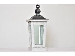 Dřevěná lucerna 36x15x15 cm