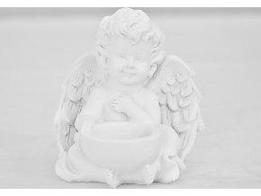 Barokní anděl s kalíškem na svíčku