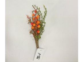 Jeřabina | dekorační větvička | 15x5x5cm