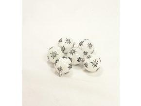 Vánoční ozdoba   stříbrná s hvězdičkami   sada 6ks   6cm