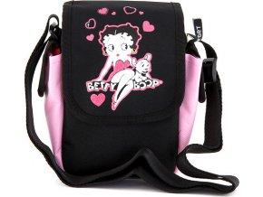 Kabelka přes rameno Betty Boop růžovo/černá, s motivem panenky Betty Boop