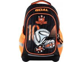 Školní batoh Target 3D Goal, barva černo-oranžová