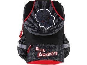 Školní batoh Target Skull Academy, červené zipy