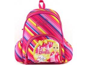 Batůžek Target Barbie, pruhy, růžový