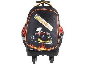 Školní batoh trolley Targett Big Wheels, barva černá