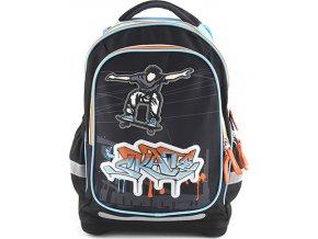 Školní batoh Target 3D Skate, barva černá