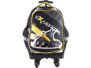 Školní batoh trolley Targett Excavantor, barva černá