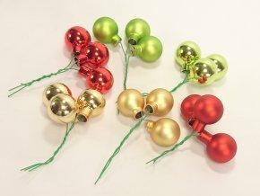 Vánoční kouličky | na drátku | svazek 3ks