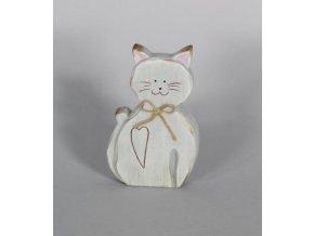 Kočka sedící keramika 13cm