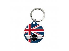 Klíčenka 4x4 cm Mini Perfectly British