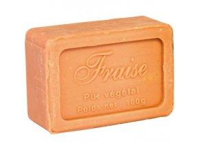 Mýdlo francouzské přírodní JAHODY 100g