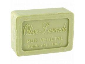 Mýdlo francouzské přírodní OLIVA-LEVANDULE 100g