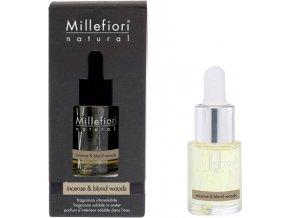 Aroma olej Millefiori Milano Natural, 15ml/Kadidlo a světlá dřeva