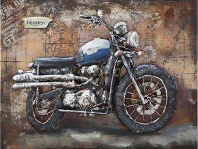 Obraz - motorka, ruční olejomalba na kovu