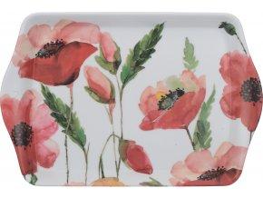 Melaminový tácek Watercolour Poppies mini