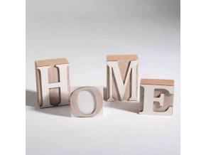 Dřevěná dekorace home kostky 6,3x3,2x6,5