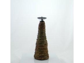 Vánoční proutěný svícen na svíčku 30cm