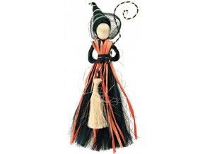 Čarodějnice černooranžová 25cm