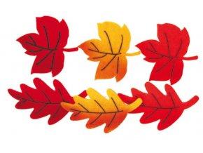 Listy z filcu na klipu v sáčku 7x6cm 6ks