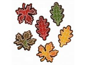 Listy z filcu s lepíkem 6ks 5cm