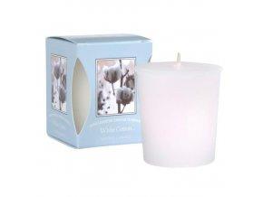 Votivní svíčka White cotton