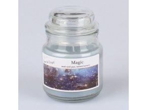 Vonná svíčka ve skle se skleněným víčkem Magie 80g