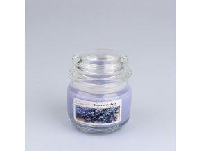 Vonná svíčka ve skle se skleněným víčkem Levandule 210g