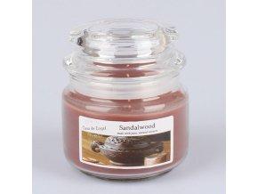 Vonná svíčka ve skle se skleněným víčkem Santalové dřevo 210g