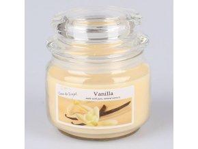 Vonná svíčka ve skle se skleněným víčkem Vanilka 210g