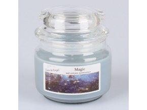 Vonná svíčka ve skle se skleněným víčkem Magie 210g