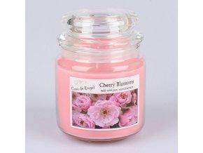 Vonná svíčka ve skle se skleněným víčkem Třešňový květ 360g