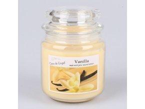 Vonná svíčka ve skle se skleněným víčkem Vanilka 360g