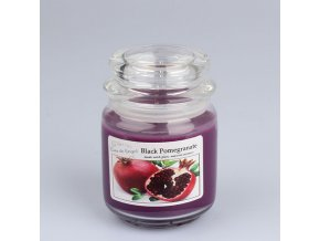 Vonná svíčka ve skle se skleněným víčkem Granátové jablko 360g