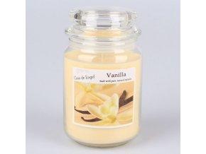Vonná svíčka ve skle se skleněným víčkem Vanilka 460g