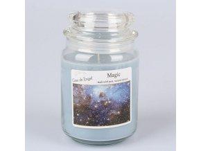 Vonná svíčka ve skle se skleněným víčkem Magie 460g