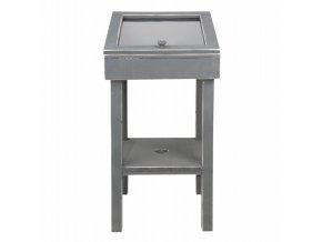 Noční stolek s víkem šedý 40x40x80cm